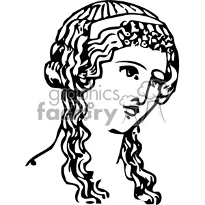 Grecian hair dressing lady vintage 1900 vector art GF clipart. Royalty-free image # 402568