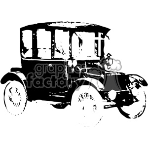vintage retro old black+white berlin car elecric brougham automobile tattoo