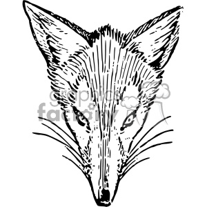 Lutz Br er Fox 1921 outline vintage fox vector vintage 1900 vector art GF clipart. Royalty-free image # 402588