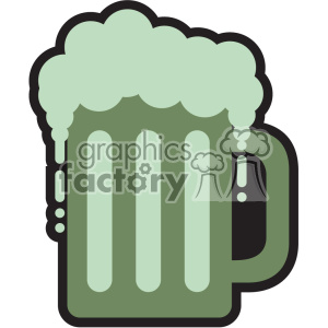 mug of green beer for St Patricks Day svg cut files GF clipart. Royalty-free image # 402601