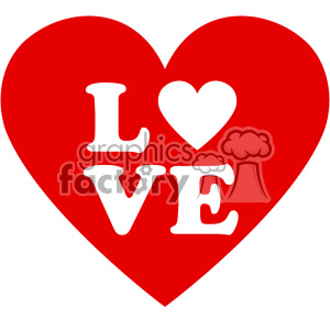 heart with love vector art flat design svg cut files clipart. Royalty-free image # 402603