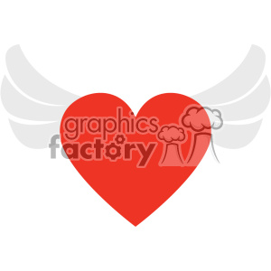 heart with wings vector art flat design svg cut files clipart. Commercial use image # 402604