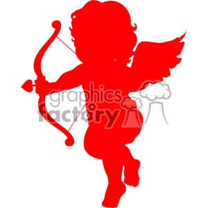 red vector cupid silhouette svg cut file clipart. Commercial use image # 402605