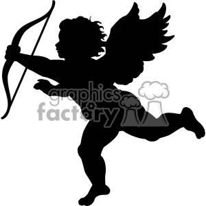 vector cupid silhouette svg cut file clipart. Royalty-free image # 402606