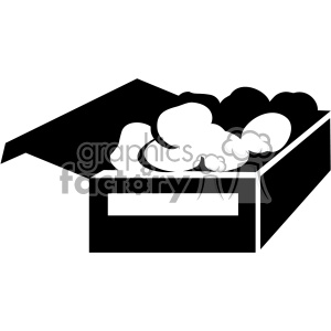 box of food svg cut file vector clipart. Commercial use image # 402621