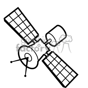 satellite illustration svg cut file vector clipart. Royalty-free image # 402624