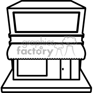 retail store storefront svg cut file outline clipart. Commercial use image # 402625