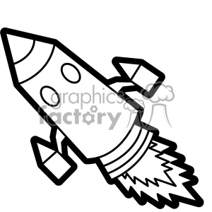 black white rocket svg cut file vector art clipart. Royalty-free image # 402626