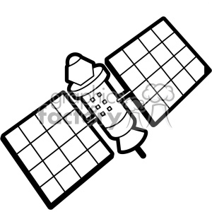space low earth orbit satellite svg cut file vector clipart. Royalty-free image # 402630