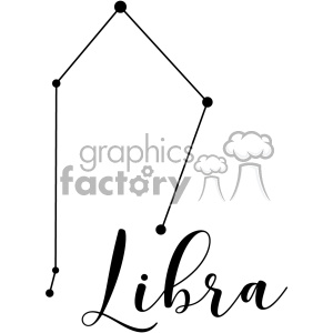 Constellations Libra Lib the Scales Librae vector art GF clipart. Royalty-free image # 402640