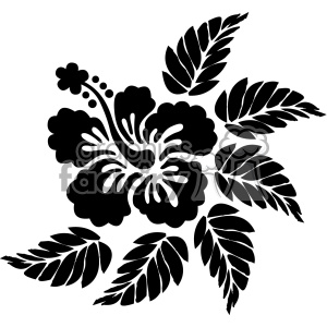 hibiscus vector svg cut file clipart. Commercial use image # 402650