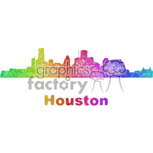 city skyline vector clipart USA Houston clipart. Commercial use image # 402663