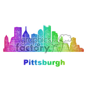 city skyline vector clipart USA Pittsburgh clipart. Royalty-free icon # 402673
