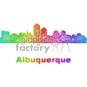 city skyline vector clipart USA Albuquerque clipart. Commercial use image # 402683