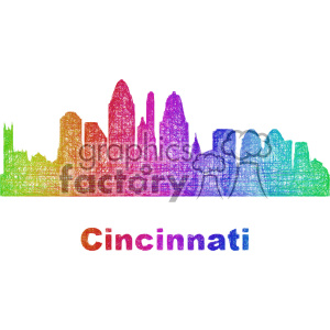 city skyline vector clipart USA Cincinnati clipart. Commercial use image # 402693