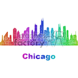 city skyline vector clipart USA Chicago clipart. Commercial use image # 402703