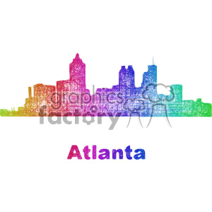 city skyline vector clipart USA Atlanta clipart. Commercial use image # 402713
