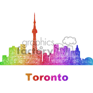city skyline vector clipart CAN Toronto clipart. Commercial use image # 402733
