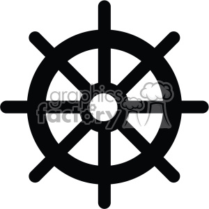 ship steering wheel vector icon clipart. Royalty-free image # 403005