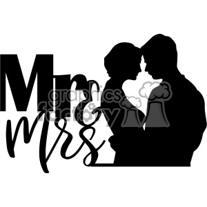 mr mrs svg cut file clipart. Commercial use image # 403015
