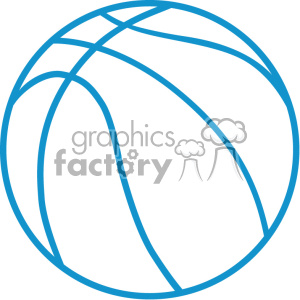 basketball outline vector svg cut file clipart. Royalty-free image # 403035