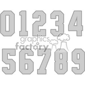 jersey number set vector svg cut files art clipart. Royalty-free image # 403055