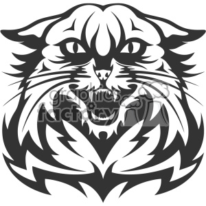 wildcat head vector art clipart. Royalty-free image # 403145