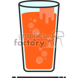 Juice glass flat vector icon design