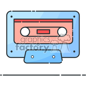 cassette vector flat icon design clipart. Royalty-free image # 403215