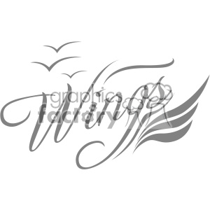 aviation wings vector logo template v2 clipart. Commercial use image # 403236