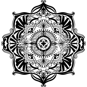 mandala geometric vector design 002 clipart. Commercial use image # 403246