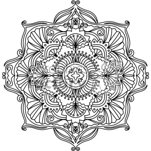 mandala geometric vector design 005 clipart. Royalty-free image # 403276