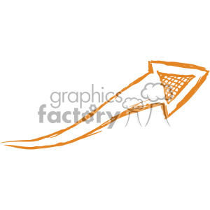 sketched right arrow vector art