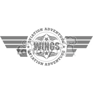 aviation adventure wings vector logo template v2 clipart. Commercial use image # 403326