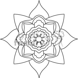 mandala geometric vector design 014 clipart. Commercial use image # 403336