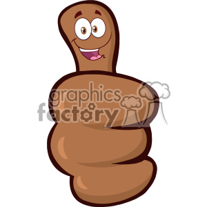 10699 Royalty Free RF Clipart African American Hand Giving Thumbs Up Gesture With Cartoon Face Vector Illustration