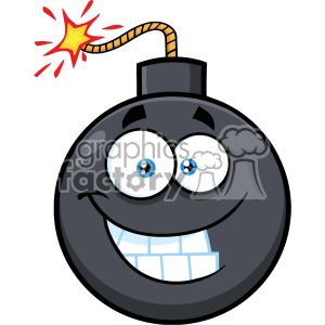10824 Royalty Free RF Clipart Smiling Bomb Face Cartoon Mascot Character With Expressions Vector Illustration clipart. Royalty-free image # 403685