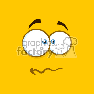 10894 Royalty Free RF Clipart Nervous Cartoon Square Emoticons With Panic Expression Vector With Yellow Background clipart. Royalty-free image # 403690