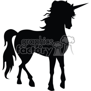 unicorn silhouete svg cut file 5 clipart. Royalty-free image # 403736