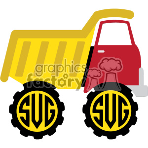 dump truck monogram svg cut file clipart. Royalty-free image # 403794