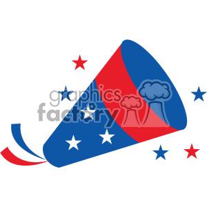 4th of july noise maker vector icon