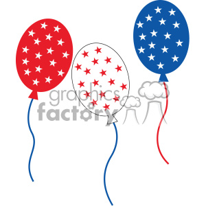 4th of july balloons vector icon