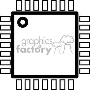 computer chip icon clipart. Royalty-free image # 403822