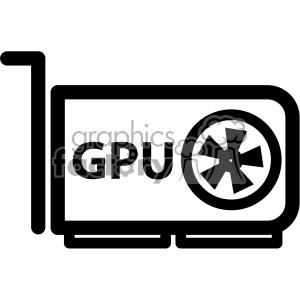 video graphics card gpu icon clipart. Commercial use image # 403829