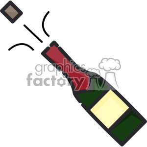 Bottle popping clip art vector images clipart. Commercial use image # 403854