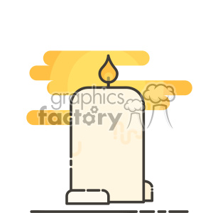 Candle clip art vector images clipart. Royalty-free image # 403872