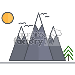 Mountains vector clip art images