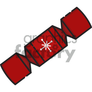 christmas cracker vector icon