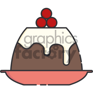 fruitcake vector icon