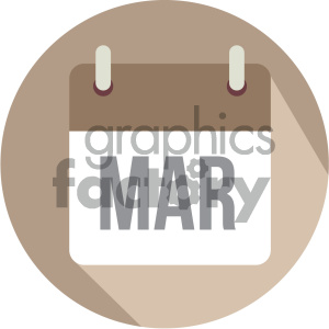 march calendar vector icon clipart. Royalty-free image # 404000